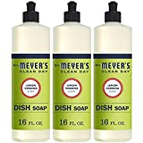 Mrs. Meyer's Clean Day Liquid Dish Soap, Cruelty Free Formula, Lemon Verbena Scent, 16 oz- Pack of 3