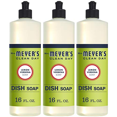 Mrs. Meyer's Liquid Dish Soap, Lemon Verbena, 16 Fluid Ounce (Pack of 3)