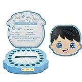 Caja de Dientes,Caja Dientes Leche,Caja de Madera Para Guardar, Caja para Guardar Dientes para Pegatinas españolas, personalizar personalizada bebé dientes caja (Chico)