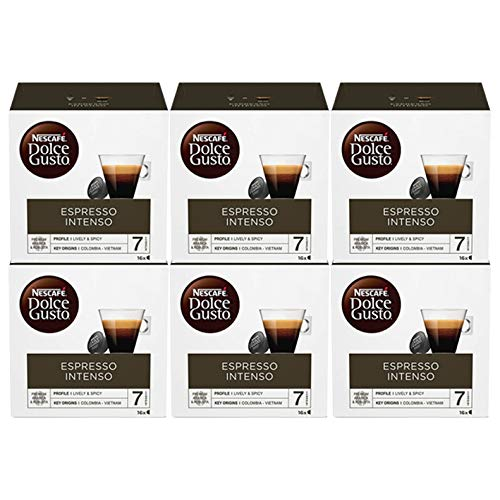 Nescafe Dolce Gusto Espresso Intenso 16 per pack - Pack of 6