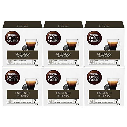 Dolce Gusto Intenso Espresso Nescafé 16 Por Paquete (Paquete de 6)
