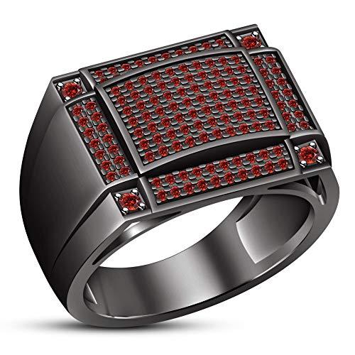 Vorra Fashion Plata fina 925 plata de ley redonda Red