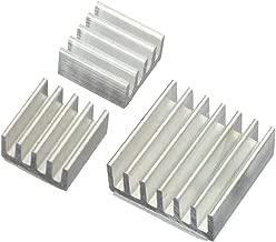 Toyvian Aluminum Heatsink Radiator Cooler Kit 3 Pcs (Silver)