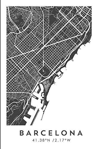 BARCELONA 41.38ºN /2.17ºW: Cuaderno de viaje. Diario, bullet journal, bujo, Diseñado en Barcelona, cuaderno de dibujo, sketchbook, bujo, cuadrícula de ... viajes, mapa de ciudades, España (CITY MAPS)