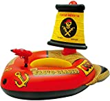 TTTD Giant Inflatable Pirate Ship Floating Row Children Pool Floats Environmental Protection PVC Safety Rollover 43′′27′′46′′, Red,Water Gun