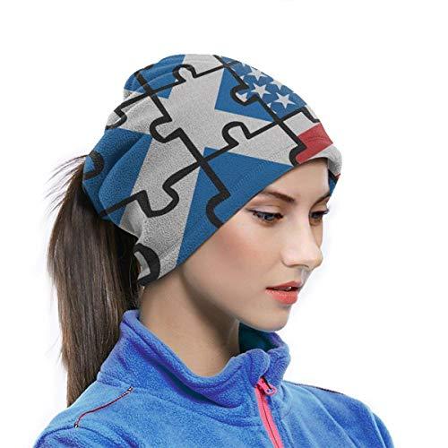 Alive Inc Multifunktionsschutz Gesichtsmaske Schottland USA Flagge Puzzle Bandana Mikrofaser Halswärmer Gamasche Schal