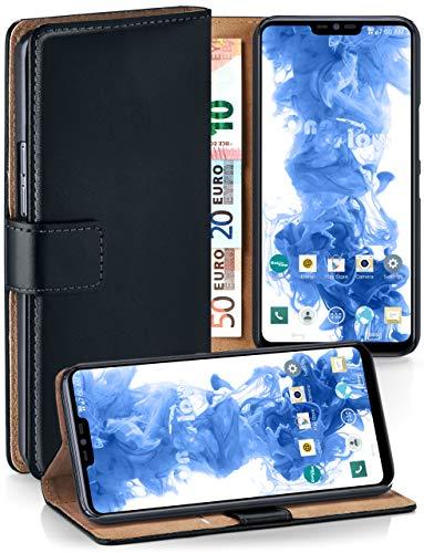 MoEx Premium Book-Hülle Handytasche passend für LG G7 ThinQ / G7 Fit | Handyhülle mit Kartenfach & Ständer - 360 Grad Schutz Handy Tasche, Schwarz