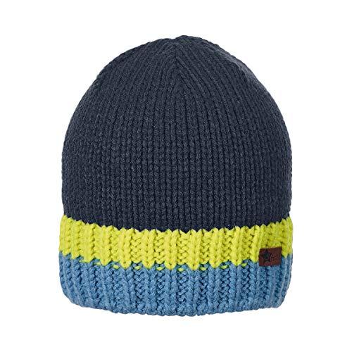 /Âge : 4-5 Mois Sterntaler Bonnet pour Gar/çon avec Pompon et Cache-Oreilles Taille : 41 cm Bleu Marine