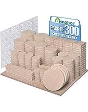 Meubelpads 300PCS zelfklevende meubels vilten pads voor meubels voeten vilt pads voor stoel benen anti kras - enorme hoeveelheid vloerbeschermer Pads Beige met 60 kast Bumpers Pads Pads