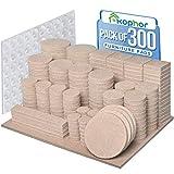 Furniture Pads 300PCS Self-Adhesive Furniture Felt Pads for Furniture Feet Felt Pads for Chair Legs Anti...