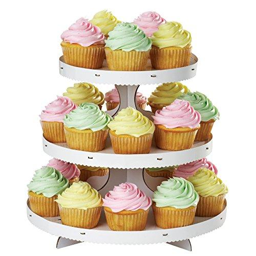 Wilton Soporte para Cupcakes de 3 Alturas, cartón, Blanco, Centimeters