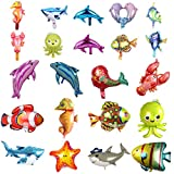 SOTOGO 22 Pieces Balloons Large and Small Sea Animal Balloons Set Sea Creatures Tropical Fish Balloons for Kid Birthday Party Decorations