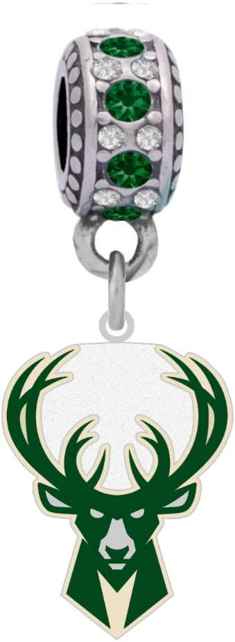 Milwaukee online shopping Bucks Logo Charm Fits Style Br Bargain sale Pandora Compatible With