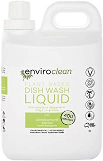 Enviroclean Plant Based Dishwash Liquid 2 litre, Peppermint 2 liters