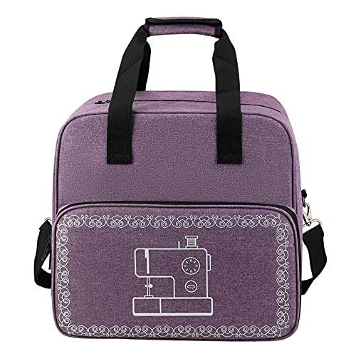 Bolsa grande para máquina de coser bolsa de almacenamiento portátil bolsa organizadora de viaje para accesorios de costura (púrpura)