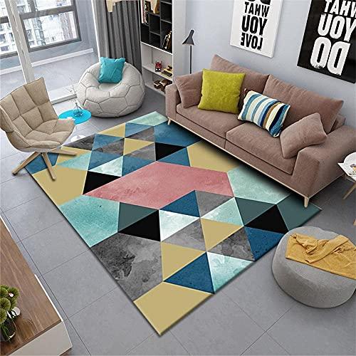 Kunsen decoración habitación niña Alfombra Infantiles Azul alfombrado Sala de Estar Dormitorio decoración Rectangular Moderno Suave Confort alfombras Exterior Jardin 140X200CM 4ft 7.1' X6ft 6.7'