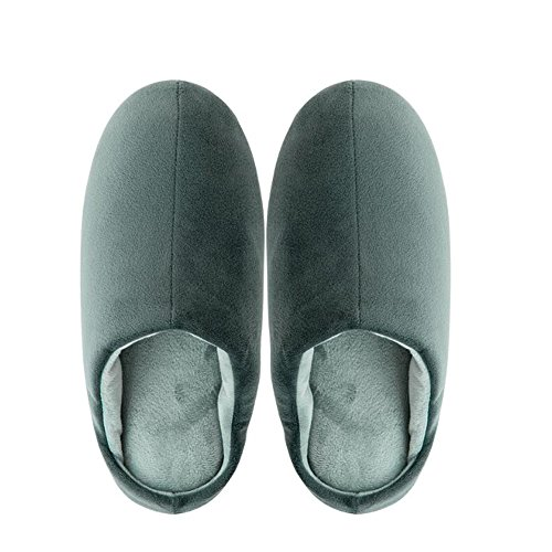 Black Temptation Pantoufles pour Hommes Chaussons de Confort