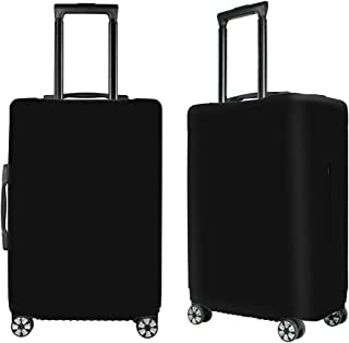 Washable Luggage Cover Spandex Suitcase Cover Protective Fits 19-32inch Luggage Zipper Carry On Covers Black