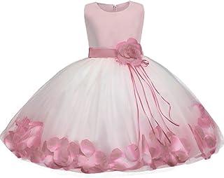 Abiti Carnevale Formale Principessa Vestito Senza Maniche per Cerimonia Matrimonio Natale CIELARKO Vestito Lungo Maxi da Bambina