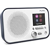 Pure Elan BT3 Portable DAB/DAB+/FM Digital Radio with Bluetooth, Tone and Radio Alarm, Colour Screen, AUX Input and 40 Station Presets - Portable Radio/Portable DAB Radio/Bluetooth Radio – Slate Blue