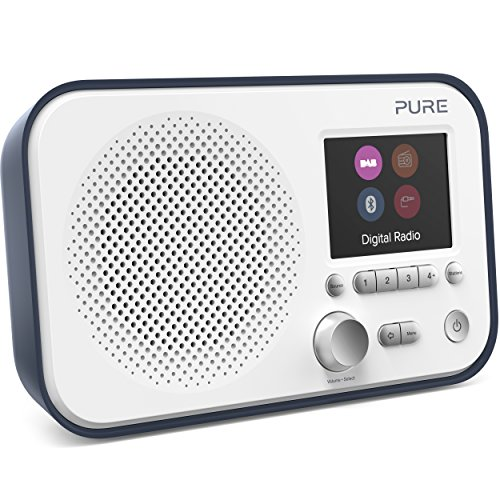 Photo of Pure Elan BT3 Portable DAB/DAB+/FM Digital Radio with Bluetooth, Tone and Radio Alarm, Colour Screen, AUX Input and 40 Station Presets – Portable Radio/Portable DAB Radio/Bluetooth Radio – Slate Blue
