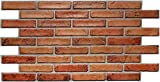 Paneles de pared de PVC 3D decorativos revestimientos - ladrillo rojo (12, 5,76 m2)