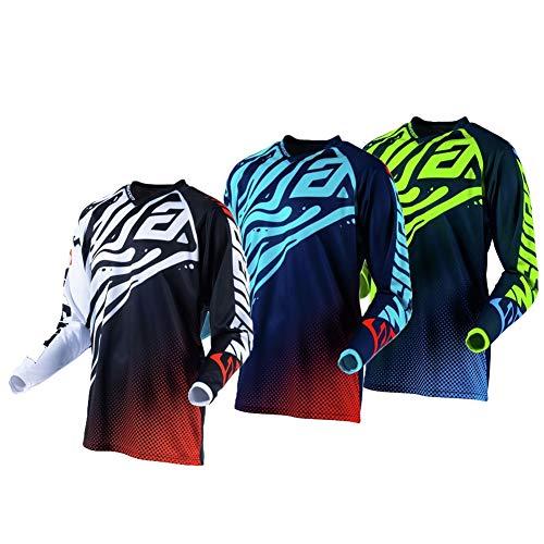 R Star Syncron Jersey Men MX Motocross Jerseys Dirt Bike Downhill Racing Shirt Riding Gear Jersey HEA (Green,M)