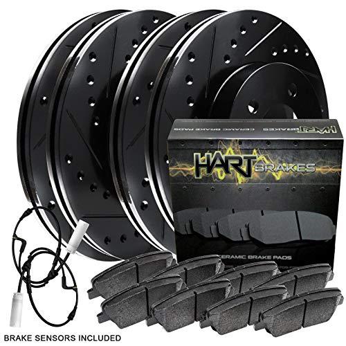 Fit 2002-2006 Mini Cooper Black Hart Full Kit Brake Rotors Kit+Ceramic Brake Pads