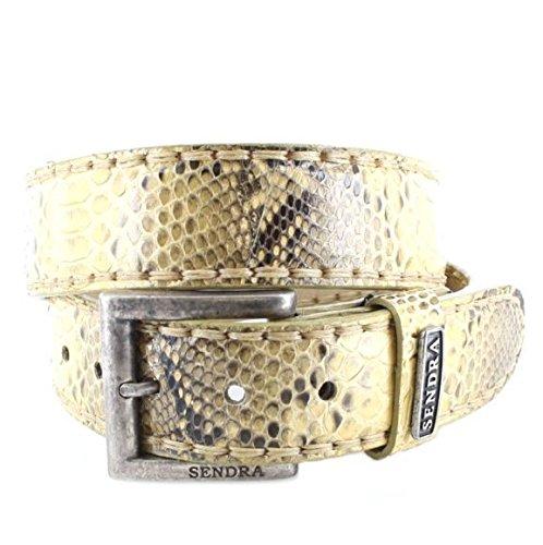 Sendra Bottes Ceinture en cuir 1016 Exotic Changement de ceinture ceinture (en différentes couleurs & variantes) - Beige - 100