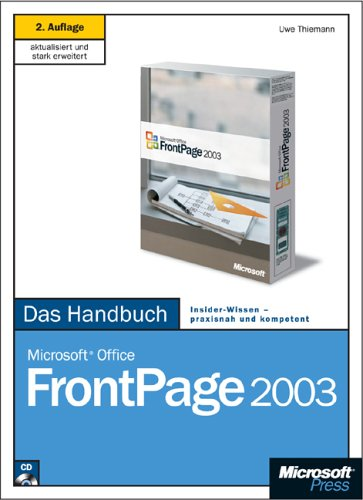 Microsoft Office FrontPage 2003, Das Handbuch, m. 1 CD-ROM