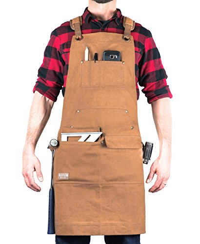 Hudson Durable Goods - Woodworking Edition - Waxed Canvas Apron...
