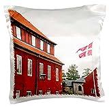 3dRose pc_81294_1 Kopenhagen, Dänemark, dänische Flagge, Militär Barrack – Eu07 Ist0009 – Inti St. Clair – Kissenbezug, 40,6 x 40,6 cm