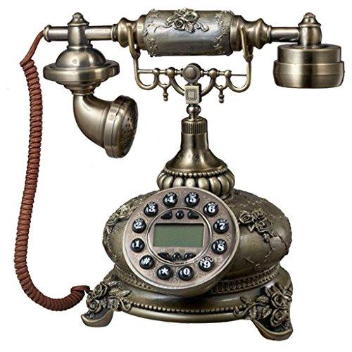 Liu Yu·maison créative,Antique couleur en trois dimensions relief POLY Retro fixe téléphone
