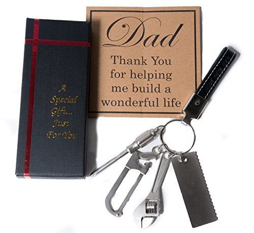 Christmas Gifts for Dad from Daughter - Dad Gifts - Dad Keychain - Gifts for Dad - Best Dad Gifts - Fathers Day Gifts - Keychain for Dad from Daughter and Son (Tools)