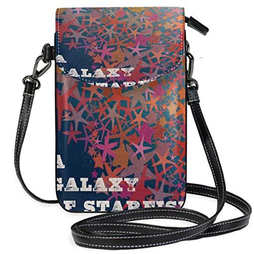 XCNGG Monedero pequeño para teléfono celular Galaxy Of Starfish Cell Phone Purse Wallet for Women Girl Small Crossbody Purse Bags