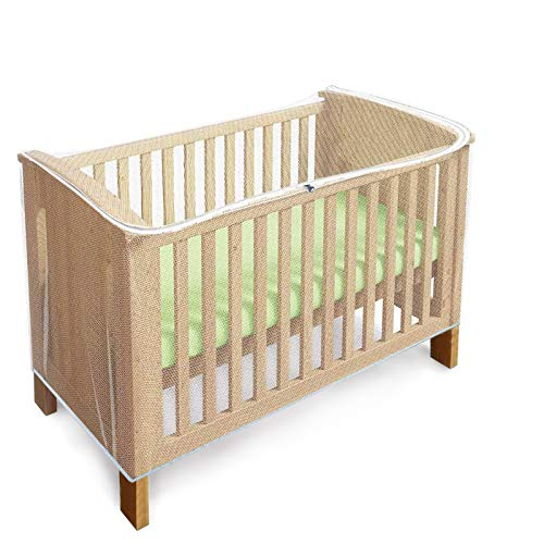 Mosquitera para Cuna Mosquitera para Bebé, Mosquitera Cuna de Viaje Portátil, moisés y Cama para bebés con zíper con Acceso rápido y fácil a su Hijo