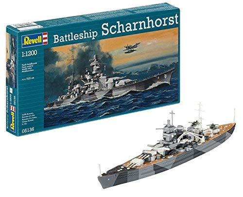 Revell Germany 1/1200 Battleship Scharnhorst Model Kit by MMD Holdings, LLC