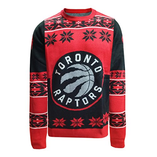 NBA Toronto Raptors Unisex NBA Big Logo Ugly Crew Neck Sweater, Large