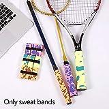 Schweißband 12 Stück Hantel Matte Badminton Clap Ersatz Anti-Rutsch Sommer Soft Tennis Schläger...