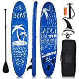 COSTWAY Tabla Hinchable Paddle Surf Sup Board Stand Up Set con Remo de Ajustable/Bomba/Línea de Seguridad y Bolsa de Transporte (335 x 76 x 16 cm)