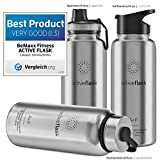 ACTIVE FLASK von BeMaxx Fitness 950ml (Classic Stainless) - 2