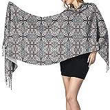 Bufanda grande para mujer Octopus Garden Grey Soft Cashmere Feel Pashmina Shawls Wraps
