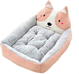 BOOB Cute Pet Winter Dog Bed Sofa Soft Warm Cat Bed House Cartoon Small Dog Bed Cushion Pet Sofa Bed for Dog Chihuahua Teddy