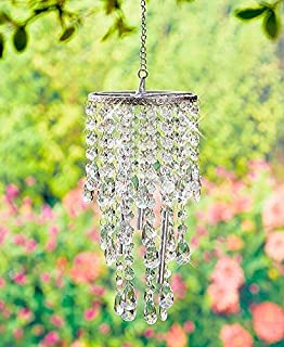 clear glass wind chimes