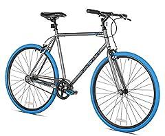 58cm Tig Welded Steel Frame and Fork 700c Alloy Wheels Flat Bar Style Handlebar