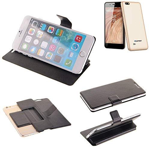 K-S-Trade® Schutz Hülle Für Blaupunkt SL 04 Schutzhülle Flip Cover Handy Wallet Case Slim Handyhülle Bookstyle Schwarz