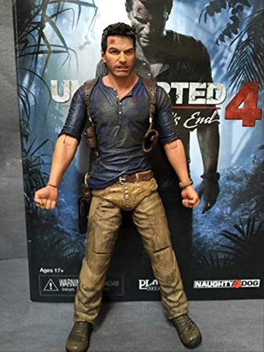 bolin 19cm Uncharted Action Figure Nathan Drake PVC Collection Model Toys
