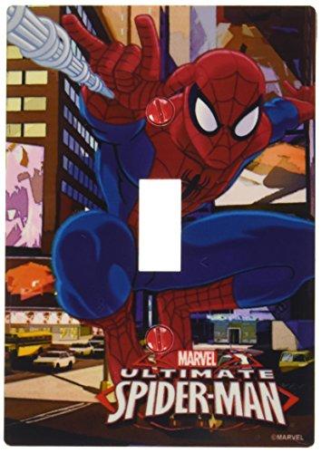 AmerTac M1012T Marvel Spider-Man Single Toggle Wall Plate, Multi