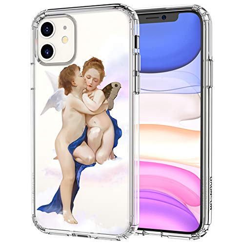 MOSNOVO Angel Love Pattern Designed for iPhone 11 Case - Clear