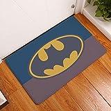 yywl Felpudo Superhéroe Imprimir Felpudo Anti Slip Superman Batman patrón Decorativo Alfombra Baño Cocina Decoración Alfombra de Entrada Mat Cubierta (Color : D2132 11, Size : 40cmx60cm)